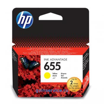 Картридж HP 655 Yellow